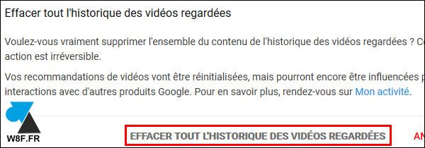 tutoriel historique video YouTube