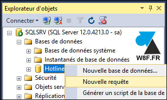 tutoriel requete SQL Server taille table base BDD
