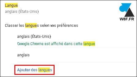 tutoriel Google Chrome changer langue