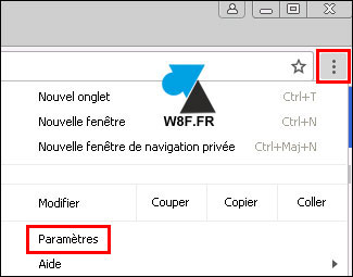 tutoriel Google Chrome Paramètres settings parametres options