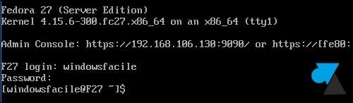 tutoriel telecharger installer Fedora 27 Server minimal netinstall
