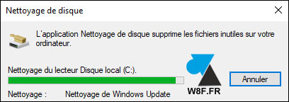 tutoriel menage disque dur windows update