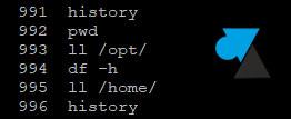 tutoriel history linux