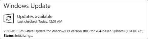Windows 10 KB4103721 fix correctif