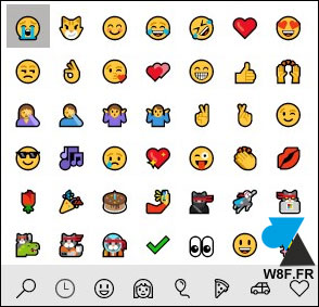 Windows 10 smiley emoji