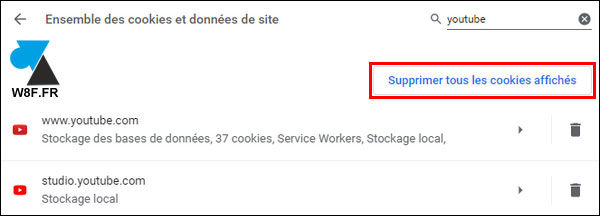 tutoriel Google Chrome cookies cookie YouTube