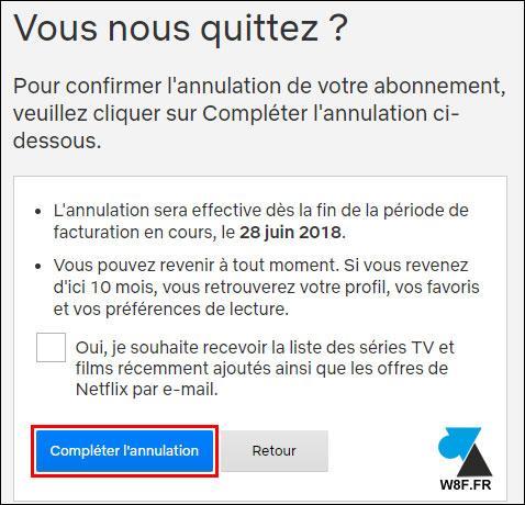 tutoriel arreter abonnement Netflix payant gratuit
