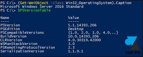 PowerShell Windows Server 2016