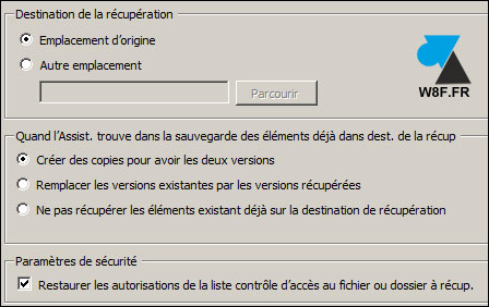tutoriel Sauvegarde Windows Server