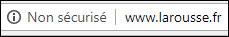 Google Chrome 68 http non sécurisé