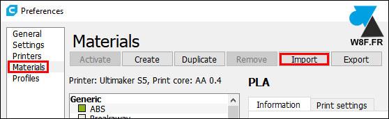 tutoriel Ultimaker Cura profil profile 3D