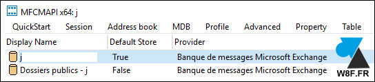 Outlook sauvegarder saisie semi automatique MFCMAPI