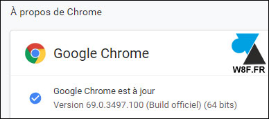 tutoriel Google Chrome 69 about