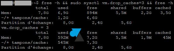 tutoriel free memory vider cache memoire ram debian ubuntu