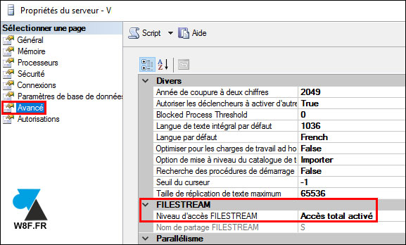 tutoriel SQL Server filestream