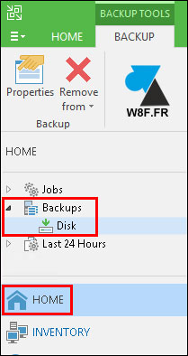 tutoriel sauvegarde Veeam Backup Replication supprimer fichier