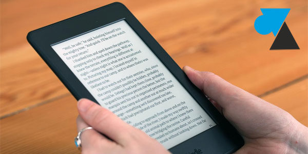 Premier démarrage d'une liseuse Amazon Kindle