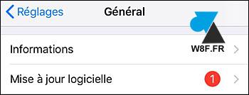 tutoriel iPhone iPad iOS réglages mise à jour