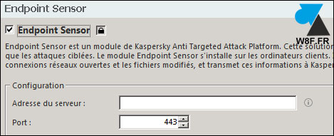 tutoriel activer Kaspersky Endpoint Sensor Security KAV KES 11 KATA
