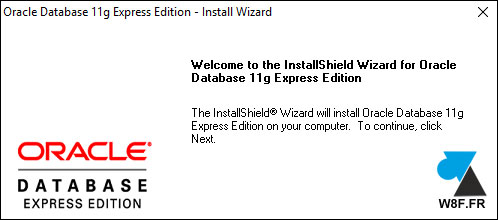tutoriel installer Oracle Database Express oraclexe