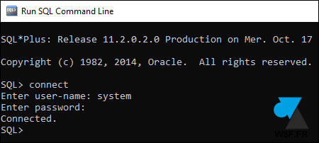 tutoriel Oracle 11g R2 Express connect sql