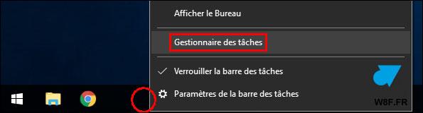 tutoriel Gestionnaire des taches Windows 10 taskmgr w10