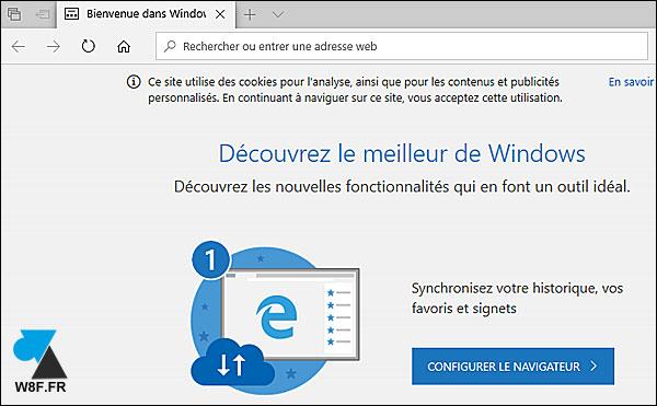 tutoriel mise à jour Windows 10 Update Edge