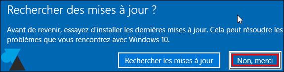tutoriel Windows 10 restauration systeme update