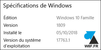 Windows 10 October Update 1809 octobre