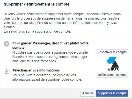 tutoriel supprimer profil Facebook FB