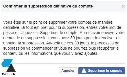 tutoriel delete Facebook FB profile