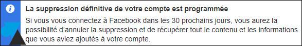 cloturer effacer compte Facebook FB