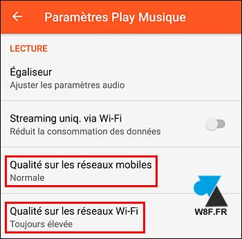 Google Play Music qualité élevée musique