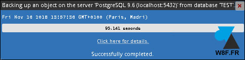 tutoriel PostgreSQL export base donnees sauvegarde BDD pgadmin PGSQL