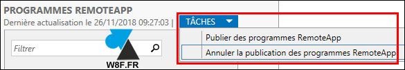tutoriel supprimer application RDS RemoteApp