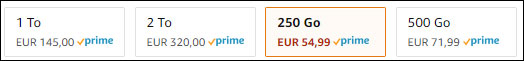 tarif prix disque SSD Samsung Amazon