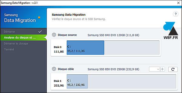 tutoriel cloner copier disque dur SSD Samsung