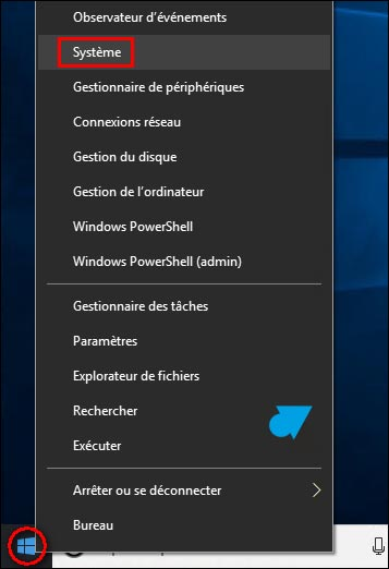 tutoriel Windows 10 menu demarrer systeme