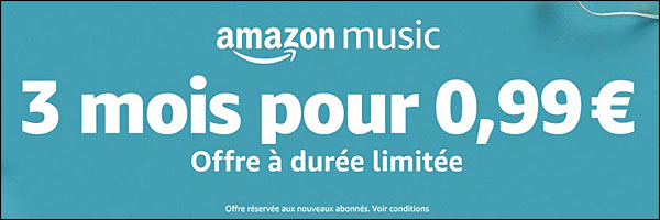 Amazon Music bon plan gratuit
