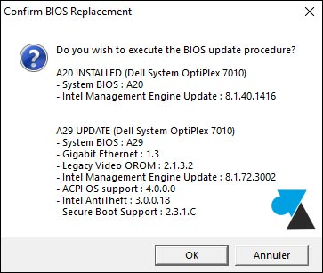 mise a jour Bios Dell update Inspiron Optiplex Latitude XPS Vostro Alienware