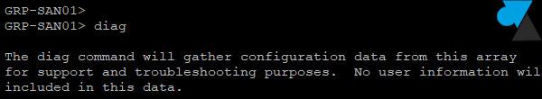 SAN Dell log diag diagnostic