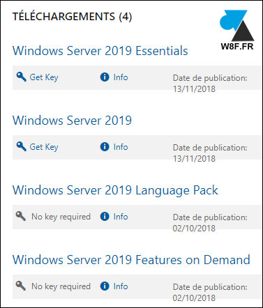 telecharger Windows Server 2019 download trial