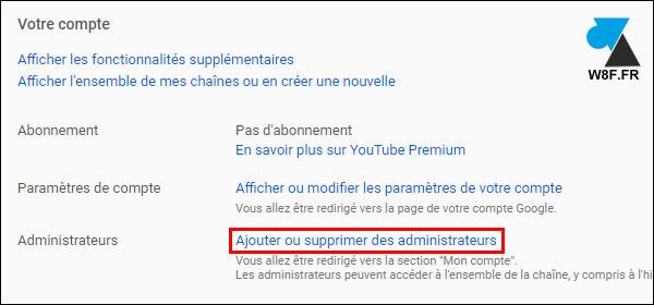 tutoriel chaine YouTube gerer administrateurs utilisateurs
