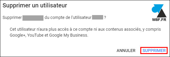 tuto page YouTube supprimer compte user