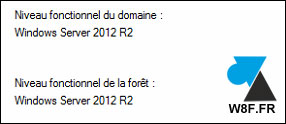 Active Directory niveau fonctionnel domaine foret Windows Server