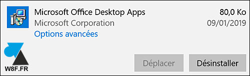 uninstall Microsoft Office Desktop Apps desinstaller