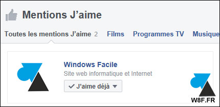 tutoriel Facebook page likée j'aime Windows Facile