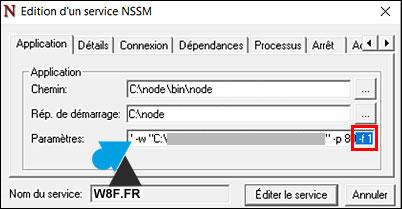 nodejs nssm edit