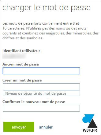 tutoriel changer mot de passe compte Microsoft Office 365