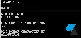 Oracle character set AL16UTF16 jeu caracteres